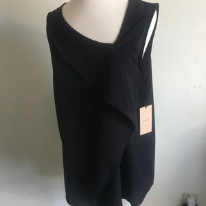 NWT Nordstrom ruffle asymmetrical sleeveless top